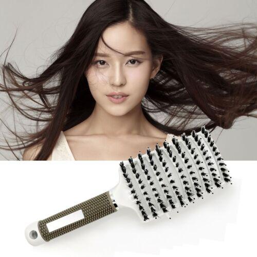 Hair Comb Massage Abody Scalp Detangle Hairbrush Nylon Brush Women Wet Bristle M