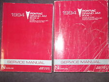 1994 Pontiac Grand Am Repair Shop Manual Set 94 SE GTP GT Original OEM Service