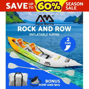 Aqua-Marina-Inflatable-Kayak-Kayaks-Betta-2-person-Canoe-Fishing-Boat-Paddles