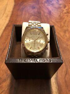 Details zu MICHAEL KORS ORIGINAL DAMEN UHR LEXINGTON MK 5556 Farbe Gold