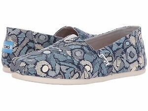 TOMS-WOMEN-CLASSIC-FROST-FLORAL-CAMO-BLUE-AUTHENTIC-FREE-SHIPPING-10010797