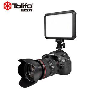 Tolifo Pt-12b 12w Slim Dimmable Led Video Camera Light Photography for DSLR