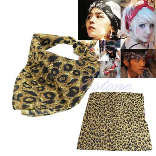 LEOPARD PRINT BANDANA MASK SCARF HEADBAND HEAD CLOTHES BELT UNISEX SHOES TOP HOT