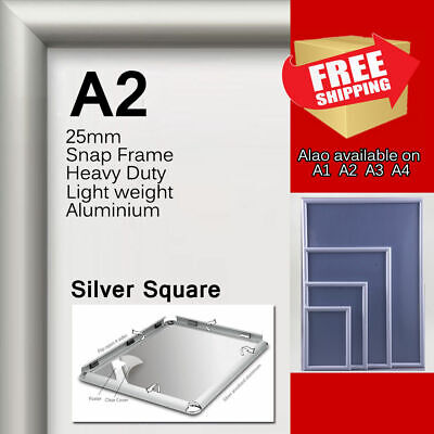 A3 Wall Mount Snap Poster Holder Aluminium Frame Picture Frame