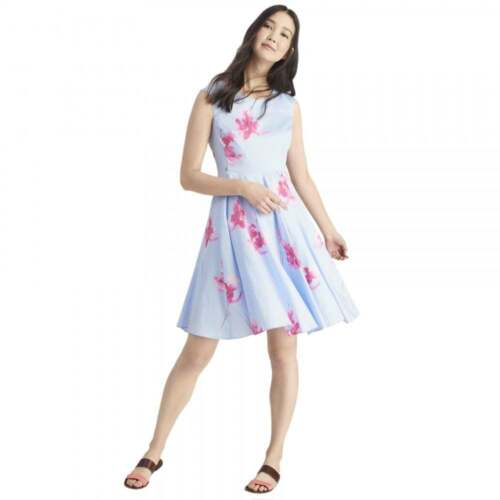 JOULES Amelie ROBE Fit Flare Occasion Mariage Fête Sz 16 18 RRP £ 79 freeukp /& P