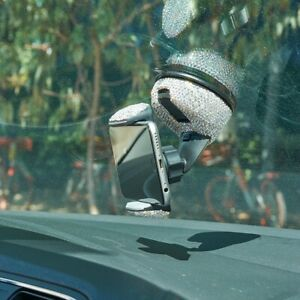 Bling-Rhinestones-Car-Windshield-Vent-Mount-Bracket-For-Car-Phone-Holder-Stand