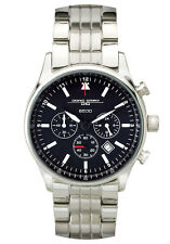 Jorg Gray Men's JG6500-71 Black Dial Chronograph Stainless Steel Band SS Watch