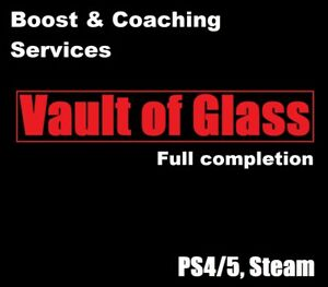 Vault of Glass, Full completion + Challenge + Chests (PC, PS4/5, Boost Services)