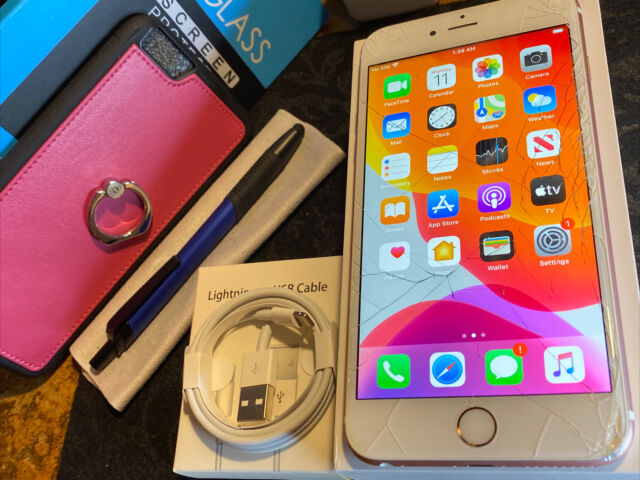 Apple iPhone 6s Plus (64gb) Cricket/ AT&T/ h2o (A1634) Rose Gold {iOS13}80% LooK