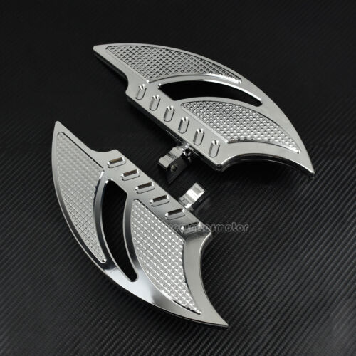 Chrome Driver Passenger Floorboards Foot Rests Fit For Harley Touring Dyna FLD