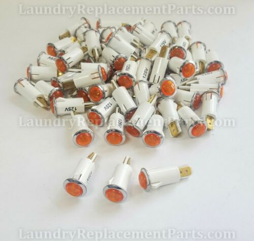 50 PACK AMBER PILOT LIGHT FOR IPSO PART# 225//00015//0A