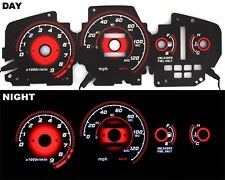 92-95 EG Honda Civic EX RED Reverse Glow Gauge Type-R BLACK AT