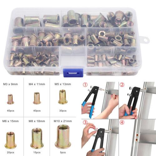 150PCS M3 - M10 Rivet Nut Threaded Head Rivetnut Insert Nut sorting Mixed Kit US