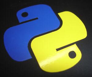Details about Python Logo Sticker - Contour Cut - Programming Software Code  (2 Colour) 50mm