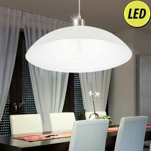 LED Pendel Hänge Lampe Wohn Zimmer Decken Fluter Lese Strahler Alabaster weiß