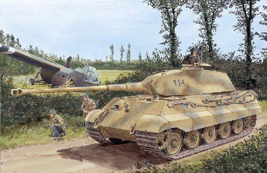 Dragon 6189 1 35 German Sd.Kfz.182 King Tiger Porsche Turret