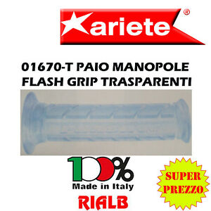 Paio-Manopole-Scooter-FLASH-GRIP-TRASPARENTI-ORIGINALI-ARIETE-01670-T-per-YAMAHA