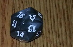 1 Black SPINDOWN Die Conflux 20 sided Spin Down Dice MtG Magic the Gathering