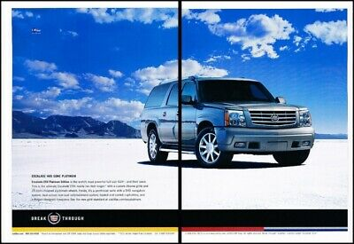 2004 cadillac escalade platinum 2 page advertisement print art car ad j884 ebay 2004 cadillac escalade platinum 2 page advertisement print art car ad j884 ebay