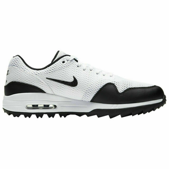 Size 10 - Nike Air Max 1 Golf White Black for sale online | eBay