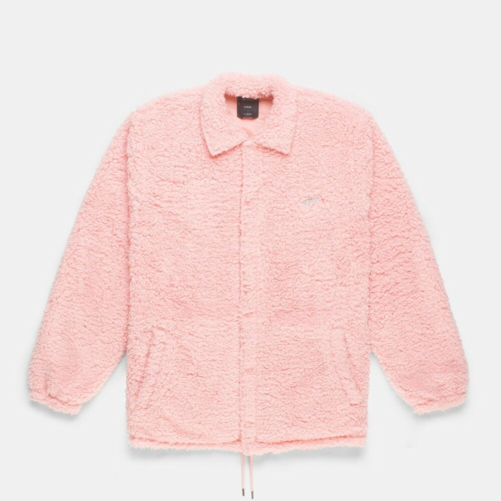 10 Deep Men Poodle Fleece Jacket Pink