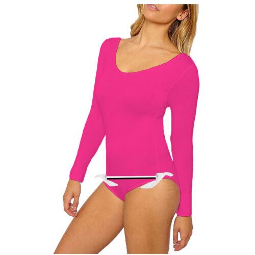 WKLFS Women Ladies Full Sleeve Bodysuit KNOT Leotard Ballet Dance Gymnastic
