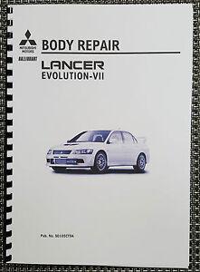 mitsubishi lancer evo vii body repair manual reprinted comb bound ebay rh ebay ie Mitsubishi Outlander Mitsubishi Lancer Evolution IX