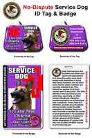 Service Dog Id Tag And Badge Combo Custom Photo Id For Pet Purple