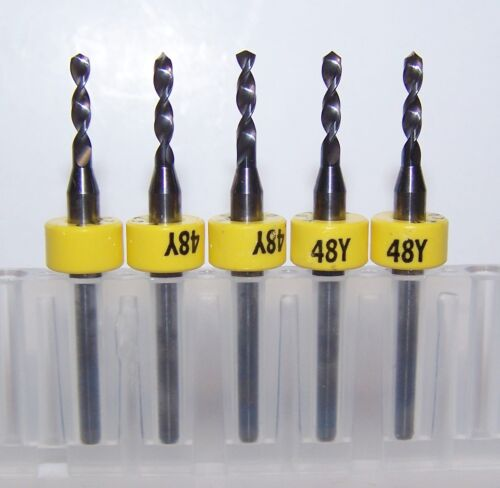 "Printed Circuit Board Carbide Drills NEW #48 PCB .0760/"" 5"
