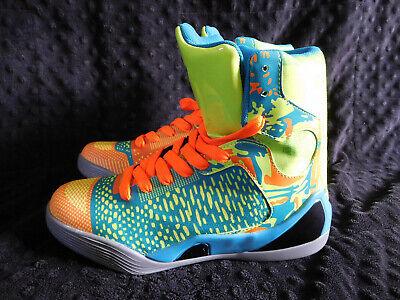3c275f0edd05 HIGH TOPS Neon BASKETBALL Shoes SNEAKERS Size 7 MENS Multi Color Green Blue  Oran | eBay
