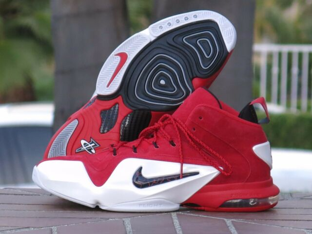 583cfdcc8bcc Nike Zoom Penny VI 6 University Red Black White Suede 749629-600 12 ...