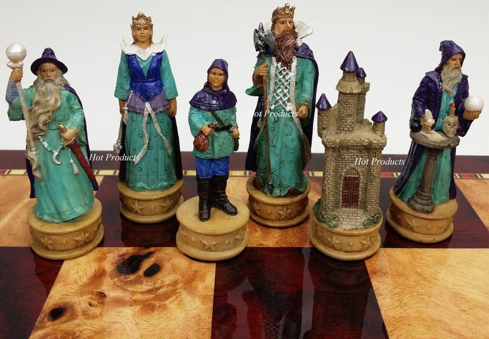 Medieval Fantasy WIZARDS & SORCERERS CHESS MEN SET  - NO BOARD