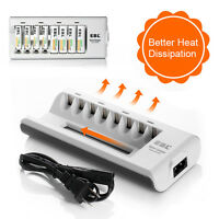 EBL 8 Slot Smart Charger For Ni-MH/Ni-CD AA AAA Rechargeable Battery Charger