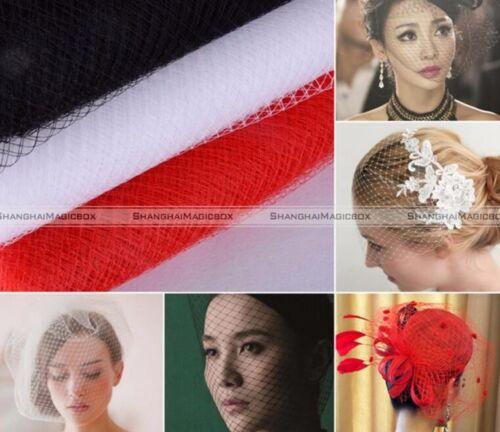 1yd* 23cm Birdcage Wedding Veil Netting Face Net Fabric Bridal Head Accessory