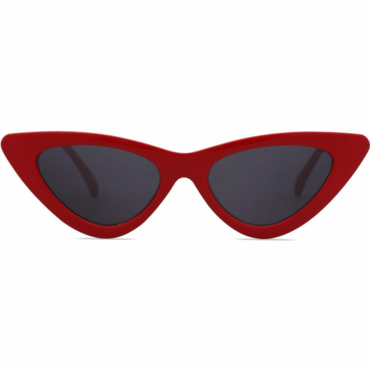 SOJOS Retro Vintage Narrow Cat Eye Sunglasses for women Clout Goggles Plactic Fr