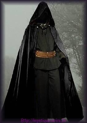 Mittelalter Set 3 Teile Hemd + Hose + Umhang Gothic Larp Alchemist Magier Ritter