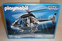 Sealed Playmobil Tactical Unit Police Helicopter W/ Figures City Action Unit