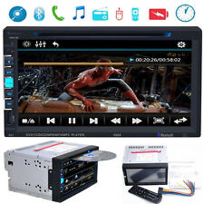 HD 7 Inch 2 Din Car Stereo DVD Player Bluetooth Touch Screen FM Radio USB SD Aux