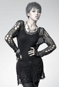Pull Top Gothic Punk Lolita Fashion zerreißen fusselig Sterne Sterne Punkrave