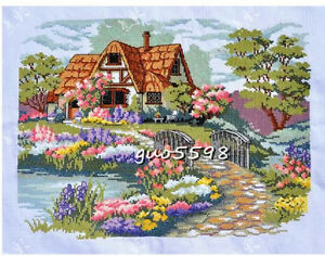 Cross stitch dreaming house finished completed cross stitch on sale