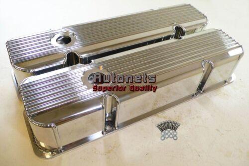 Pontiac 1959-77 Polish Aluminum Fabricated Finned Valve Cover 326 400 421 428455