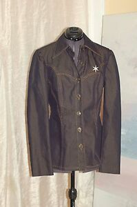 Made Lepore In Navy Blue 6 Usa Down Jean Jacket Størrelse Button Nanette gzwdHOnqO