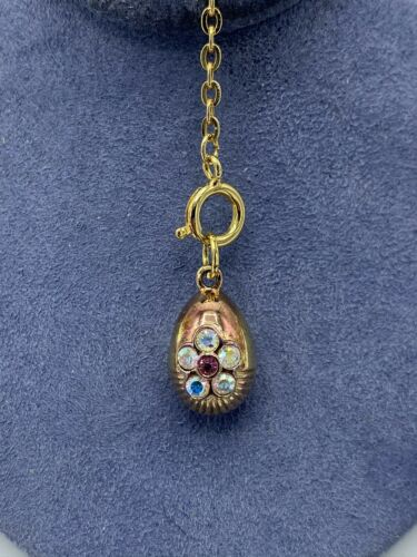 Joan Rivers Gold And Copper Flower Crystal Faberge