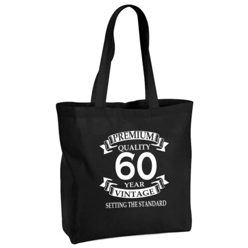 70th Birthday Gift Black Cotton Tote Bag Any Age Can Be Amended 21st 50th 30th
