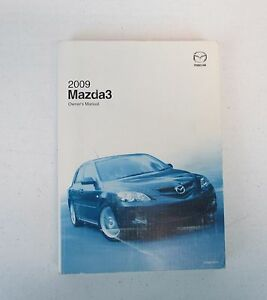 oem 2009 09 mazda 3 mazda3 owner s owners owner manual book guide rh ebay com 2009 mazda 3 owners manual for sale mazda 3 owners manual 2005 free online