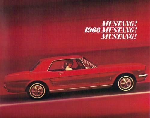 1966  MUSTANG//GT  SALES BROCHURE