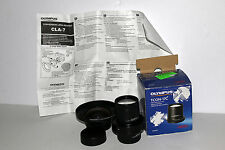 Olympus Set of 0.7x WCON-07C TCON 17C 1.7X & CL-7 Adapter Excellent Condition