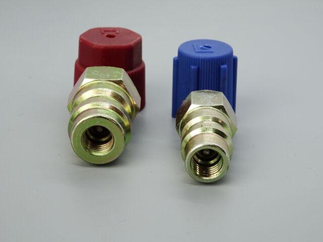 Adapter Retrofit R134a Klimaanlagen Umrüstsatz R12 auf R134a /& Ventilschrauber