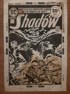 FRANK ROBBINS THE SHADOW 1974 N°5 ORIGINAL ART COVER DC COMICS