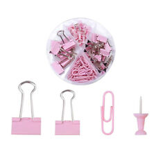 Binder Clips Push Pins Foldback Clamps Office Paper Document Clips Kit 72 Pack
